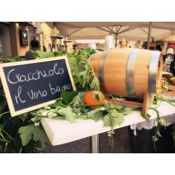 """Vino Bianco o Rosso biologico """"Busecchio"""" in botticella da 5 Litri"""