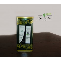 Olio Extravergine di oliva Cracchiolo biologico certificato. Latta da L.5. c.o.2018/2019