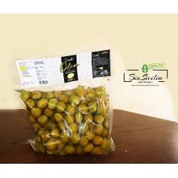 Olive BIO  Nocellara del Belice intere verdi in salamoia - conf. da 1kg